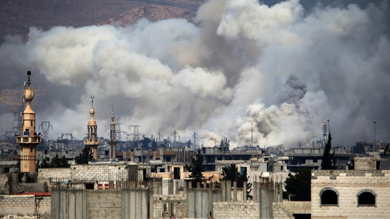 'Intense' strikes pound east Damascus after rebel assault