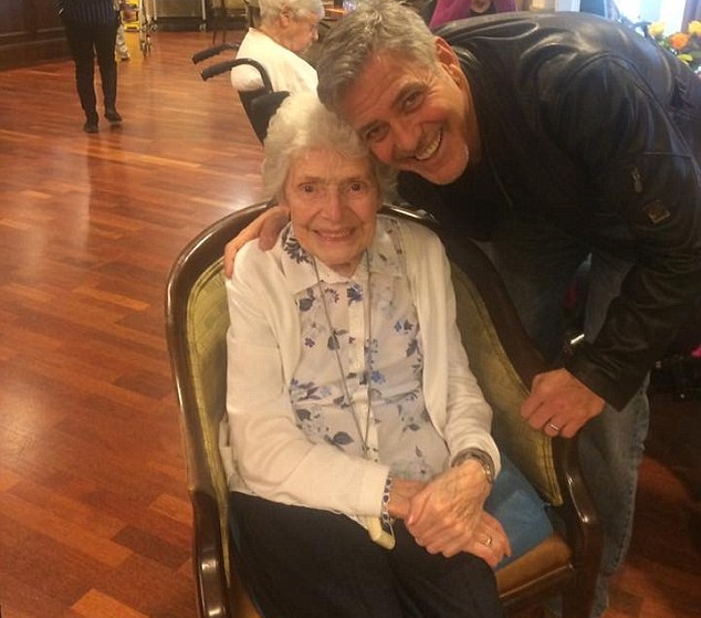 George Clooney pays surprise visit to elderly UK fan