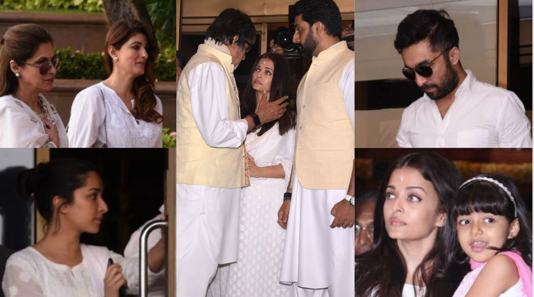 Photos: Bollywood comes together at prayer meet for Aishwarya Rai Bachchan's father
