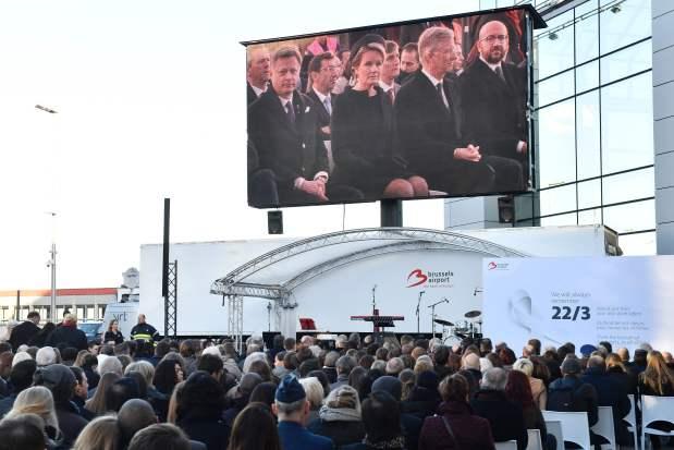 Belgian king, queen, leaders mark attacks anniversary