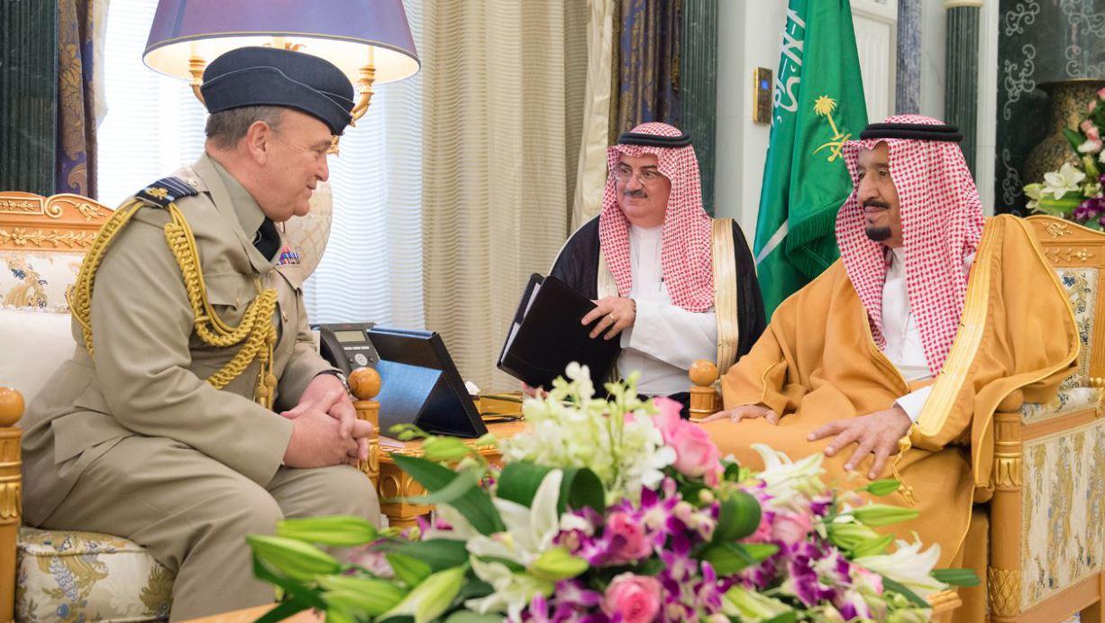 Saudi King receives top British defence official