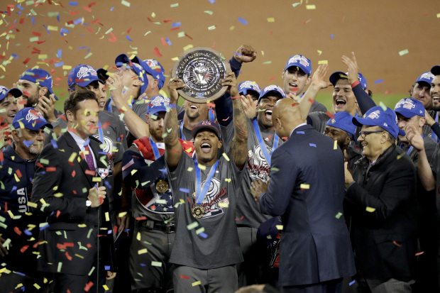 US celebrate their first World Baseball Classic title
