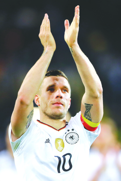 'Fairytale' farewell for Podolski