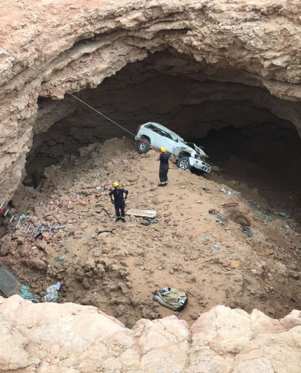 Man falls to his death in 12-metre-deep hole