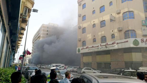 Two fires in Gudaibiya bring traffic to a halt