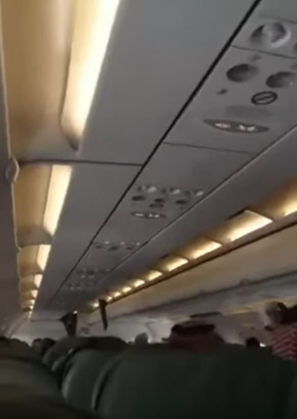 VIDEO: Panic grips passengers aboard Saudi plane due to turbulent weather