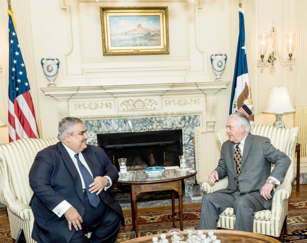 IN PICTURES: Shaikh Khalid meets Rex Tillerson, John McCain on US visit