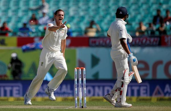 India reach 64-1 after intriguing morning session