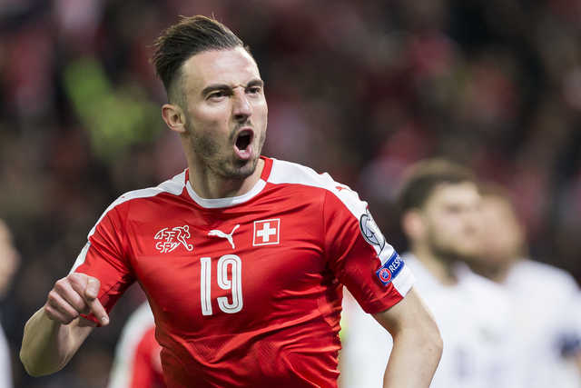 Drmic keeps up Switzerland's perfect qualifying record