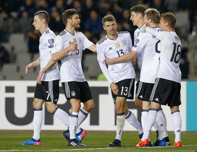 Germany stays perfect with 4-1 win against Azerbaijan