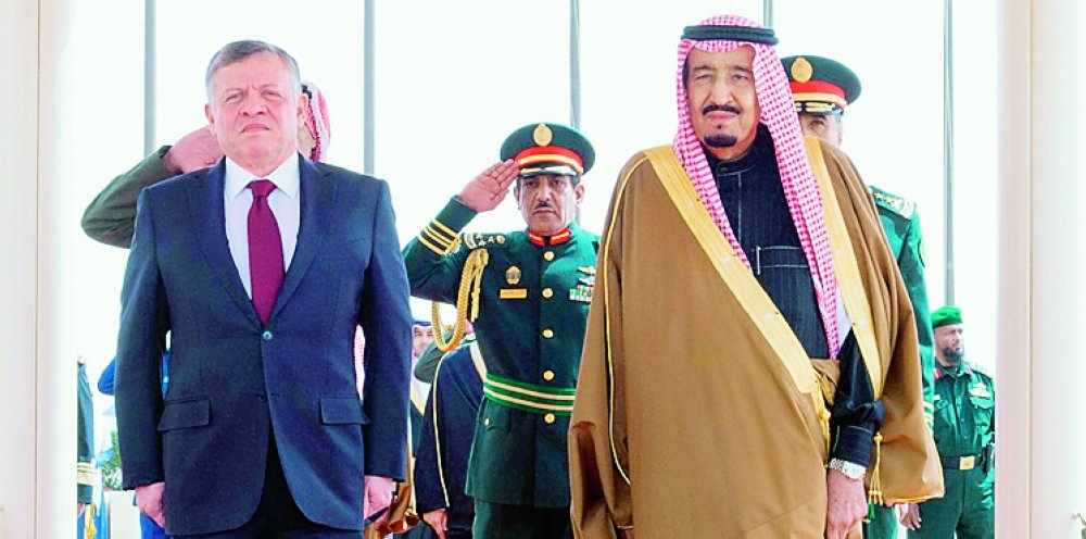 Saudi King on two-day visit to strengthen ties with Jordan