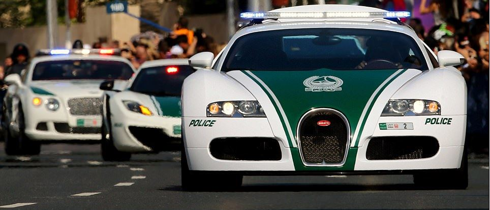 It's Official: The fastest cop car in the world is Dubai's Bugatti Veyron