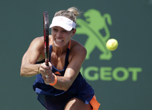 Kerber rallies to beat Rogers