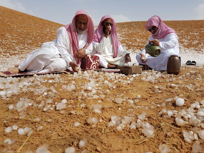 Photos: Hailstones hit parts of Saudi