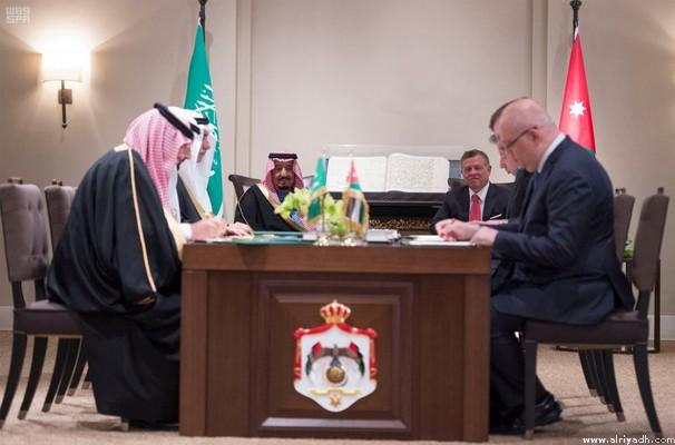 Saudi, Jordanian leaders attend signing of agreements