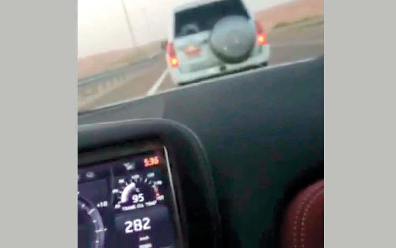 Cars confiscated as Emiratis caught racing at 282kmph on highway