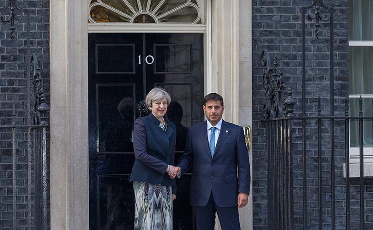 Qatari Prime Minister meets British Premier