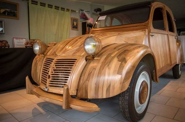 France's classic 2CV car gets special edition in wood