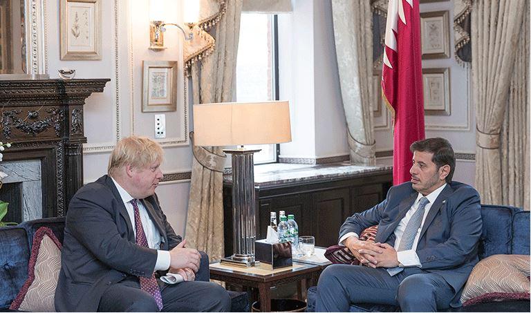 Qatari Premier meets British Foreign Secretary