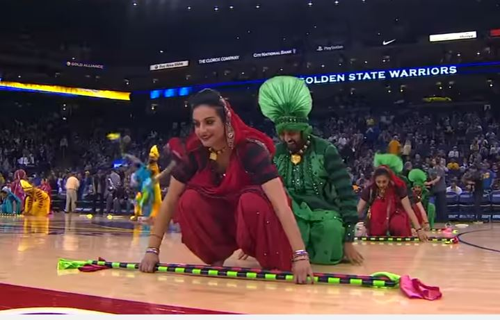 Bhangra rules NBA halftime, video goes viral