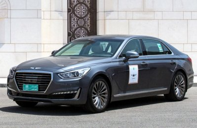 Genesis drives around Condé Nast conference guests