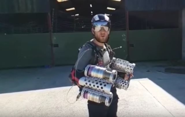 Video: Man invents, builds an Iron Man-like flight suit