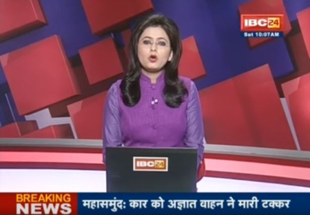Video: India news anchor learns of husband's death on live TV