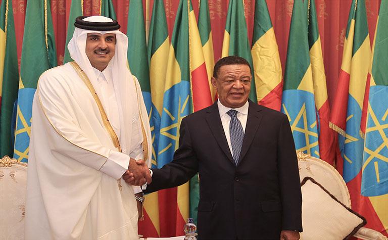 In Pictures: Qatari Amir meets Ethiopian President, PM