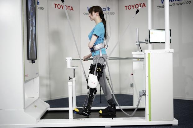 Toyota shows robotic leg brace to help paralysed people walk