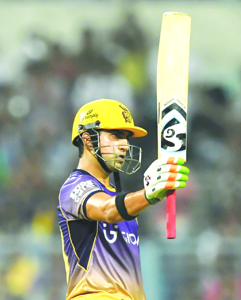 Gambhir and Narine star as Kolkata down Punjab