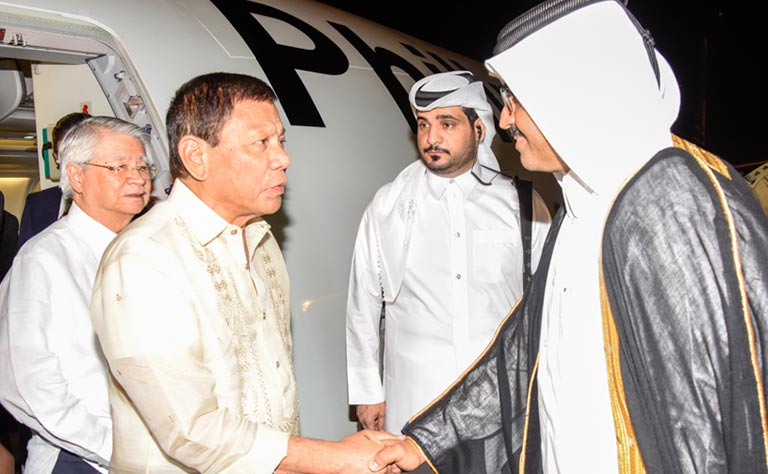 Philippines President on official visit to Qatar