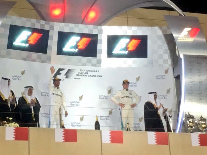 Vettel wins the Bahrain GP, Hamilton second