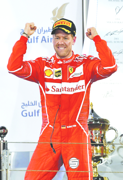 Vettel pulls off thriller