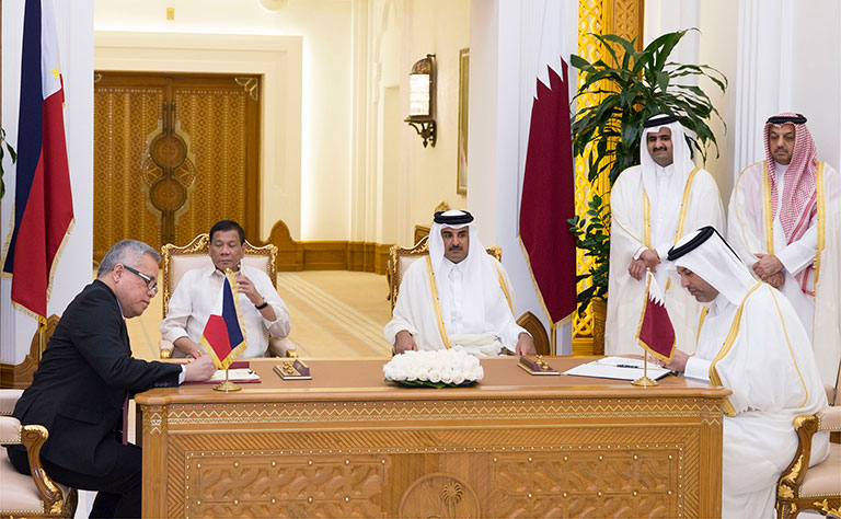 Qatar and Philippines sign co-operation agreements