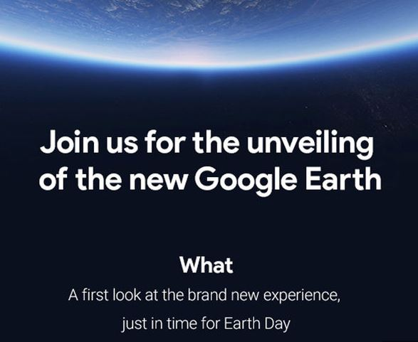 New version of Google Earth to be launched