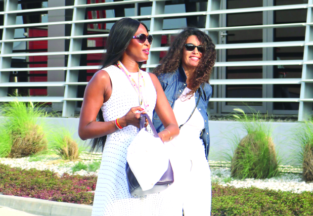 In Pictures: Supermodel Naomi Campbell adds glamour to Bahrain F1 race