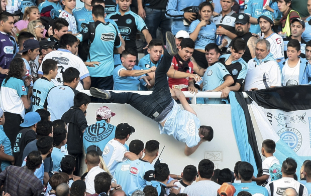 OMG: Football fan pushed to his death at match in Argentina