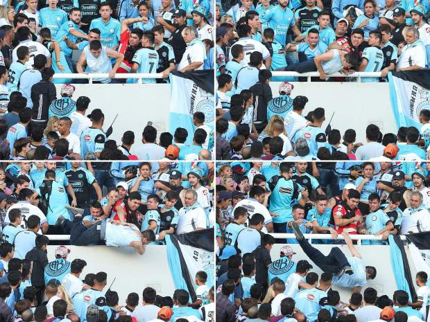Football fan pushed to his death at match in Argentina