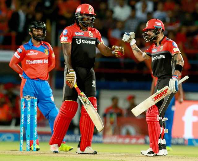 Gayle leads Bangalore to 21-run win over Gujarat