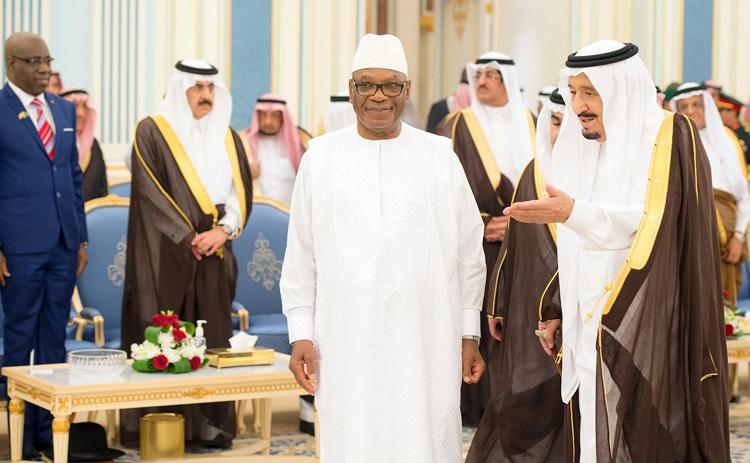 Saudi king holds talks with Malian president