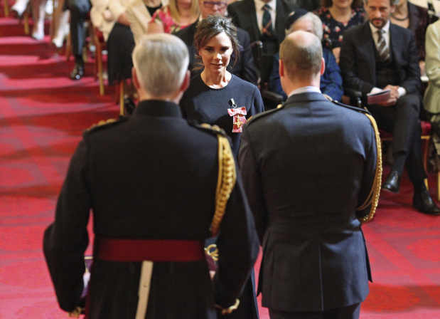 Celebs: PHOTOS: Victoria Beckham gets royal recognition
