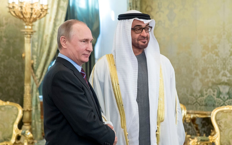 PHOTOS: Russian President meets Abu Dhabi Crown Prince