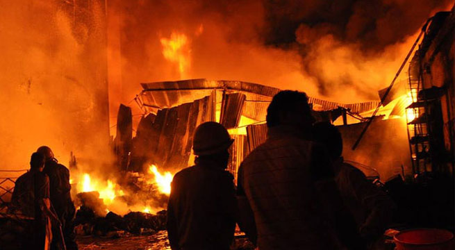 India: 14 killed when fire erupts in store selling kerosene