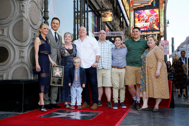 Hollywood: In Pictures: Action hero Chris Pratt honoured with star on Hollywood's Walk of Fame