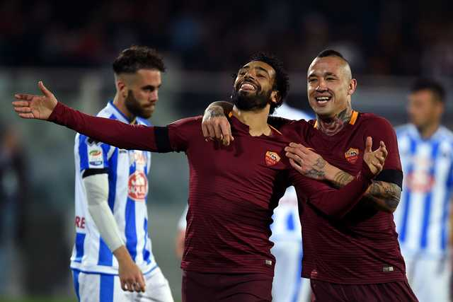 Serie A: Slick Salah fires Roma brace as drop looms for Pescara