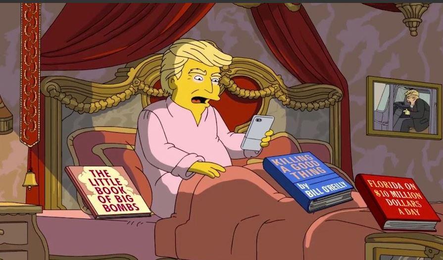 'The Simpsons' needles Trump ahead of 100-day milestone