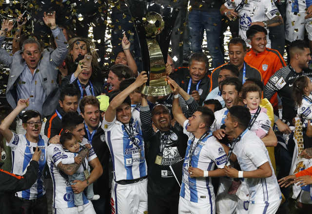 Pachuca lifts CONCACAF Champions League trophy