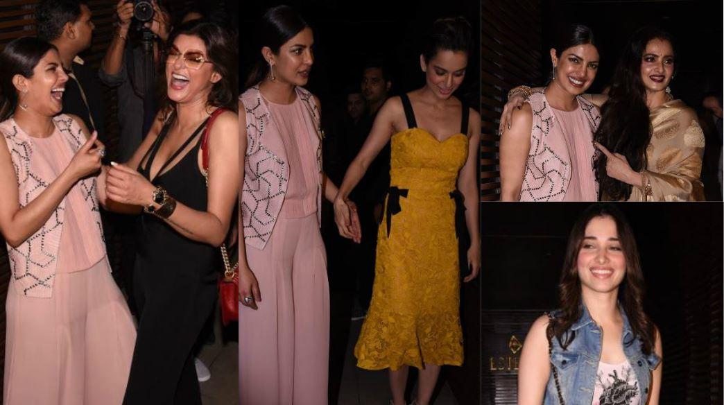 Girl Power! Kangana, Sushmita, Rekha, Tamannah light up Priyanka Chopra's party