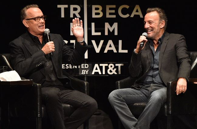 Tom Hanks turns fanboy in breezy chat with Bruce Springsteen