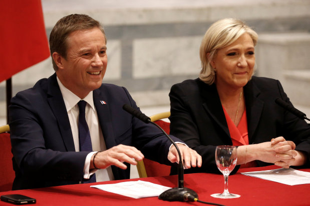 French candidate Le Pen announces eurosceptic PM pick, if elected